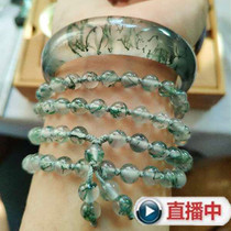 Natural green Indian water plant agate bracelet Liaoning Fuxin local red oil water plant Agate bracelet
