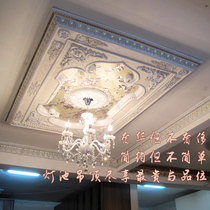 Lamp Pool PVC Ceiling Decorative board living room ceiling shape gypsum ceiling lamp plate european decoration ceiling material