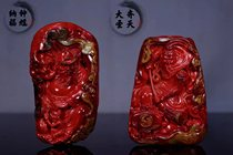 Jiangsu Gong carved persimmon red antique eagle head red meat full carving three-dimensional live room Payment link