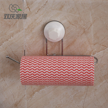 Kitchen paper towel rack toilet free punching creative long paper towel rack sucker home toilet wall hanger