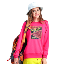 Explore the spring and autumn leisure sports clothing outdoor male and female couple sports long-sleeved casual round neck sleeve printing t-shirt