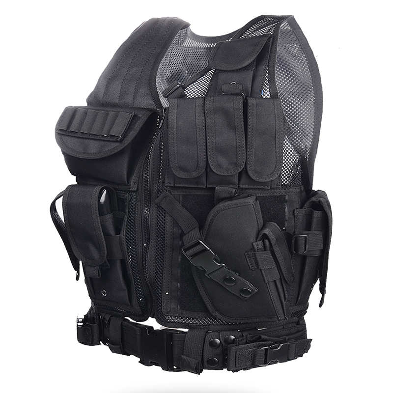Battle Vest black summer multi-functional outdoor CS field vest eating chicken tactical vest vest vest vest vest vest vest vest vest waistcoat