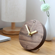 Rain wood Japanese Simple clock creative design mute decoration pendulum clock solid wood clock bedroom log pendulum clock