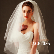 His bride wedding veil European wedding photo wedding veil multi-layer fashion style short trip shoot veil