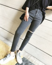 Vcruan Gray autumn American Street leisure pencil pants