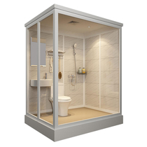 The overall shower room overall powder room home all-in-one bath room simple bathroom mobile glass bathroom