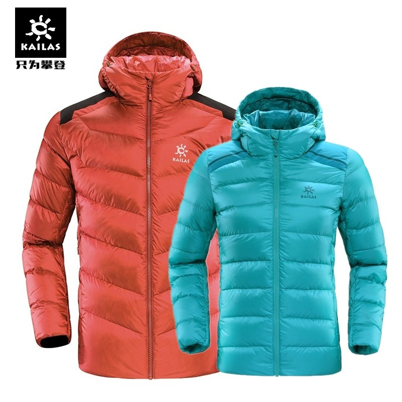 17 autumn and winter new Kaile stone outdoor down jacket men and women models thick warm warm mountaineering down jacket coat goose down