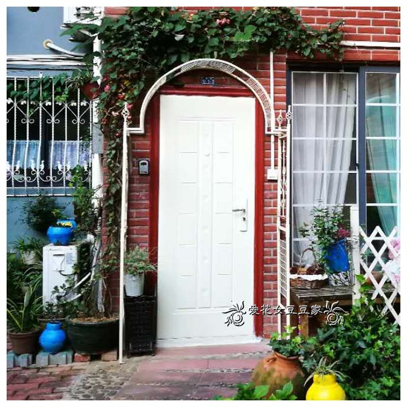 Door width 14 meters Euro-style iron rattan moon arch flower rack garden dew rose rack garden yang garden outdoor garden