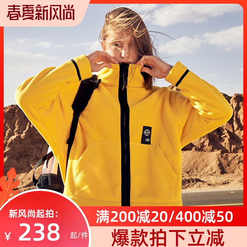 Burch and outdoor new velvet womens autumn and winter wind protection coral velvet fashion collar rocker velvet jacket