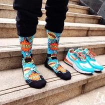 Баскетбольные носки профессиональные спортивные носки мужская осень и зима длинные 3D-печать уличная печать полотенце дно супер прохладный прилив носки