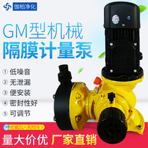 GM diaphragm metering pump corrosion-resistant acid and alkali dosing pump wastewater treatment dosing Magnetic pump factory Direct Sales