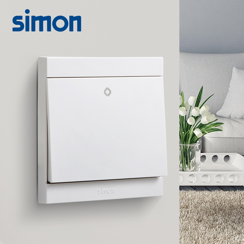 Simon genuine switch socket panel i3 white double switch to open a control of the middle switch panel