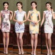 Cheongsam 2017 new spring and summer dress girl retro daily improvement short style dress dress