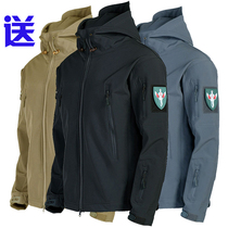 Outdoor tactical shark skin in the plush warm three-in-one stormtrooper waterproof autumn and winter special forces soft shell men