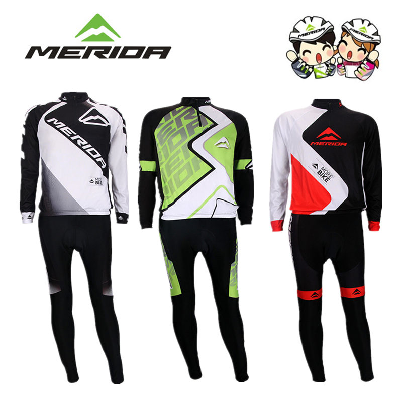Merida cycling suit Spring, Autumn and Summer Mountain Highway cycling suit long sleeve sports clothing package