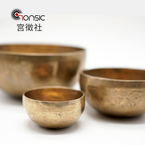 Indian Ode hand-tone Therapy Tibetan Nepal Buddhist Sound Bowl Buddhist practice weapon Yoga pure copper transfer bowl