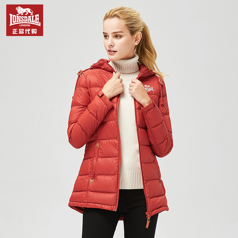 Dragon Lion Dell 2020 new down jacket ladies medium-length warm-up slim down jacket 215421585