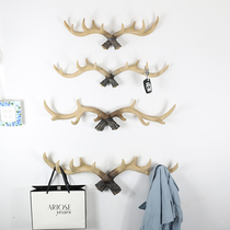 Nordic hanger key rack wall clothes hook creative wall decorated with antlers decorative coat rack gate Wall Hanging