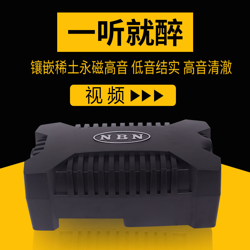 NBN Car-borne Subwoofer 911 Retyrone Ultra-thin High Power Vehicle Sound Heavy Bass Modification 12V 24V