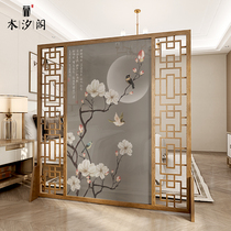 The new Chinese-style screen separates the living room office simple modern bedroom home 牀 the side of the entrance door