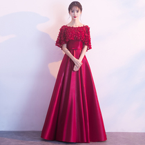 Spring and summer fashion show thin party toast dress