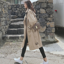 Windwear womens long-length small 2021 new British temperament this year popular long spring coat jacket
