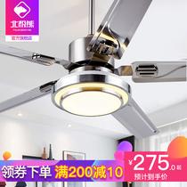 Пять листьев большой ветер потолочный вентилятор лампы из нержавеющей стали дома гостиная столовая подвесной потолок с вентилятором люстра в одном