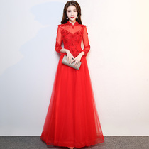 Nadia dimension Bride Red Winter stand collar toast