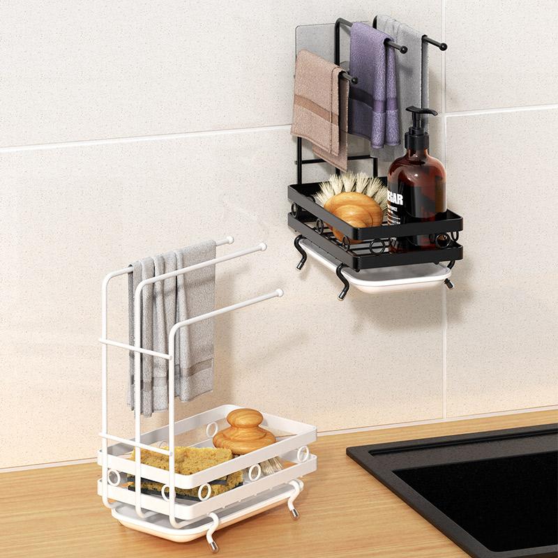 Тряпка стойку кухонные принадлежности полки для мытья посуды тряпки виселицы чтобы собрать артефакт ленивый полотенце асфальтовой рамы