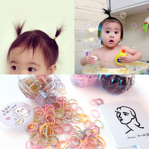 Yellow baby baby hair ring disposable not hurt hair TPU rubber band female baby head rope tie tweeted small circle rubber band