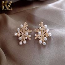 Earring 2021 new fashion pearl earring female minority design sense 925 sterling silver temperament high atmosphere earring