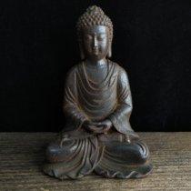 Iron Shakyamuni Buddha Statue Guanyin Bodhisattva Lion Pixiu Pen frame Inkstone Retro nostalgia worship collection
