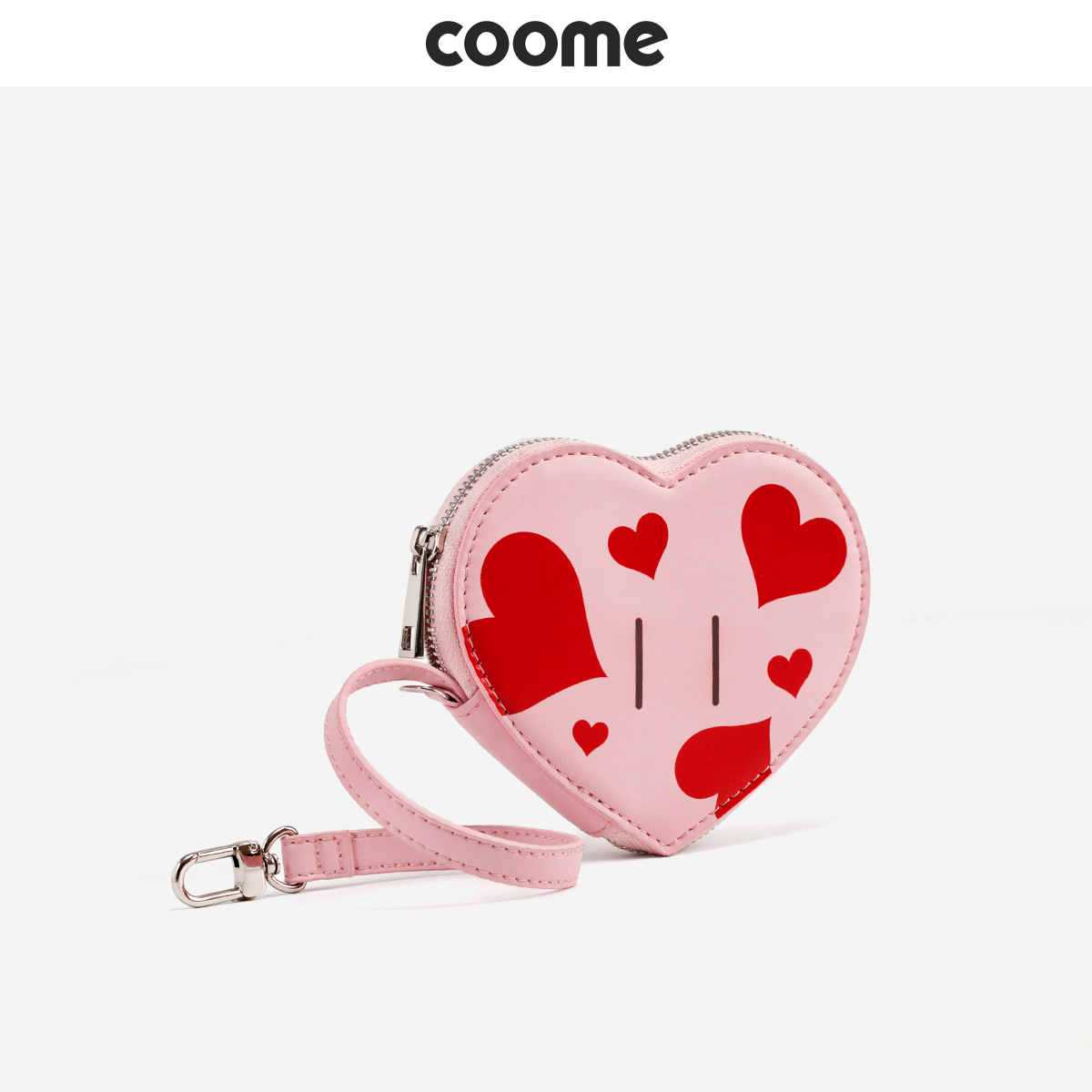 Coome Change Wallet Girl 2019 New Mini Wallet Personality Heart-shaped Handbag