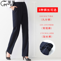 Trousers womens professional overalls bank work blue and black formal suit Work pants suit summer thin large size