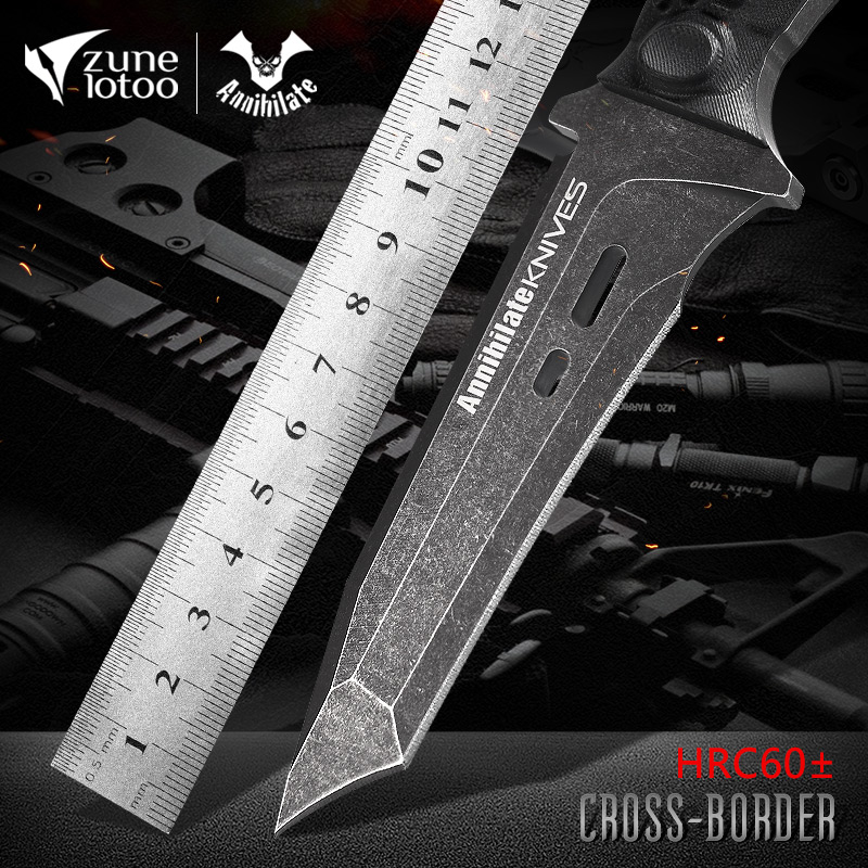 Outdoor knife military-industrial straight knife field survival anti-body army knife high hardness sharp special forces hunting carry-on knife