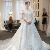 Word shoulder simple Sen Department of the Princess Royal was thin White Wedding Dress