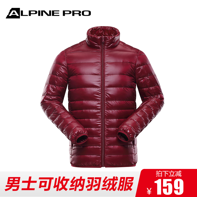 Alpini Alpine Pro Men's Fall and Winter Light and Short Down Garment, Heating Collar and Hat Slim Coat