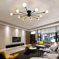 Simple modern personality iron home living room ceiling lamp Nordic American creative warm bedroom study lamp lighting