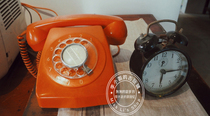 Vintage old objects dial dial telephone restaurant bar decoration collection nostalgic photography props