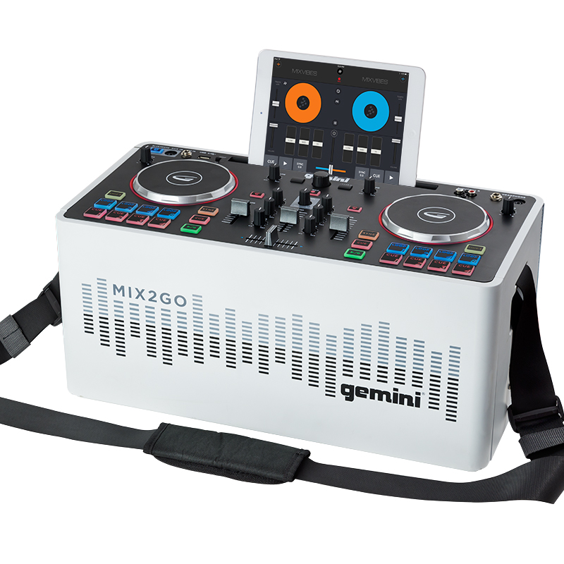 Speaker integrated digital controller, mobile phone DJ disc player, outdoor live disc machine Digital disc player