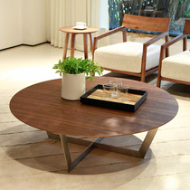 Beautiful Nordic round coffee table simple modern small type Japanese coffee table fashion Small coffee table Korean coffee table
