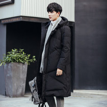 2018 Winter New-style cotton-padded mens extra-large-size medium-length clothing Korean version trend thickening jacket