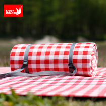 INS red and white lattice outdoor picnic mat moisture-proof pad campsite mat to increase thick waterproof spring outing lawn Picnic cloth