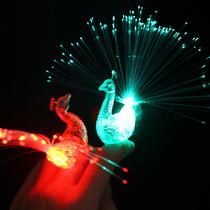 儿童发光手环学生礼物地摊新款孔雀手指灯引流地推扫码小礼品