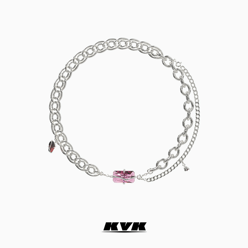 KVK necklace women 2021 new peach flower elements can be reconstituted necklace light luxury niche design sense Valentines Day gift