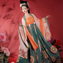Original Tang style Hanfu Female Cheozi Skirt Wide Sleeve Immortal Skirt Set Chinese Style Ancient Dress Full Spring and Autumn