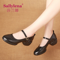 Sarana Dance shoes womens Square dance shoes fall new dance shoes and soft bottom leather sailor dance shoes