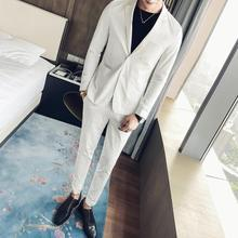 Wedding dress suit men two button slim fashion lining process two sets