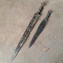 Античный бронзовый меч древнее оружие античный мечей мешок старый целлюлозный старый меч старый товар легкая кожа вышитый звук соответствующий вес