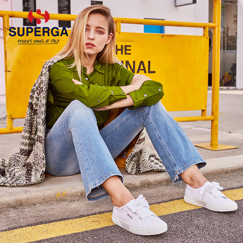 SUPERGA Breathable Small White Shoes Female Inspection Girl Student Korean Flat-soled Shoes